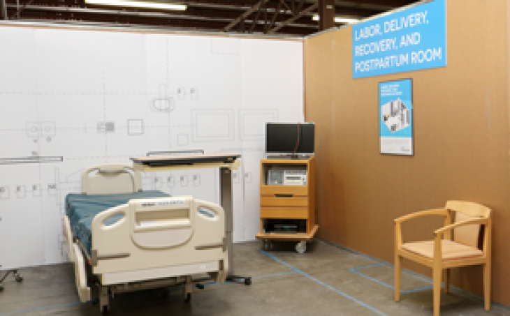 Mock up labor, delivery, recovery, and postpartum room