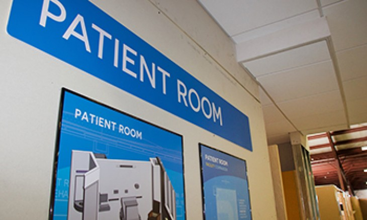 Mock patient room