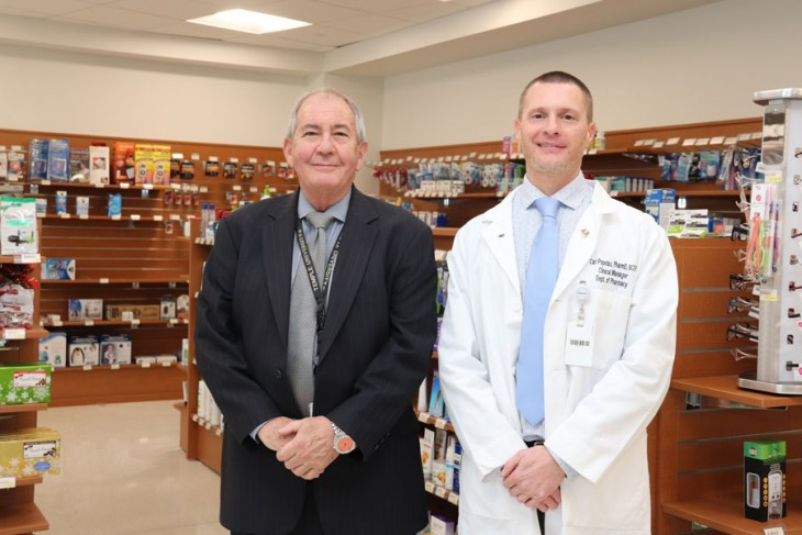 Clinical Manager and Oncology Pharmacist Carl Popelas, PharmD, BCOP with Pharmacy Director Alex Zarow, RPh, MS, MBA