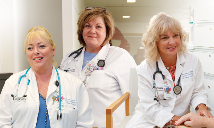 Three Nurse Practitioners at Bayhealth's Cancer Centers
