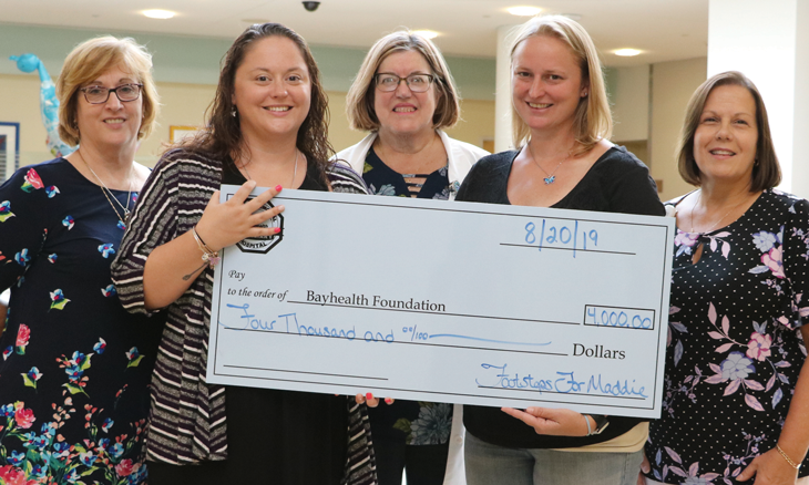 Footsteps for Maddie gives donation to Bayhealth Foundation