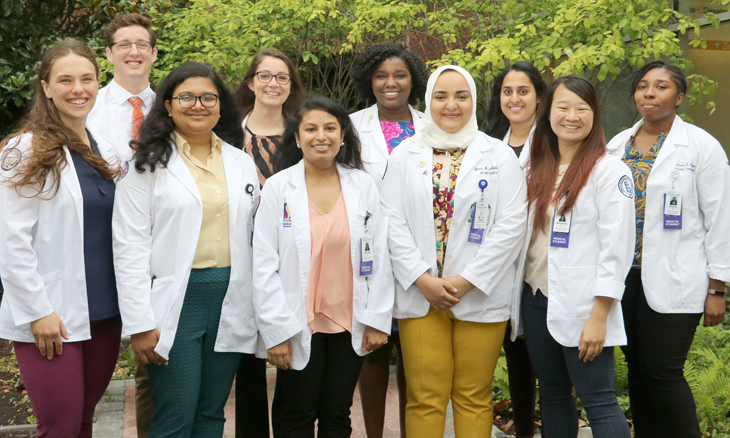 11 medical students at Bayhealth